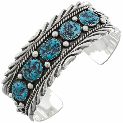 Turquoise Silver Indian Cuff 22441