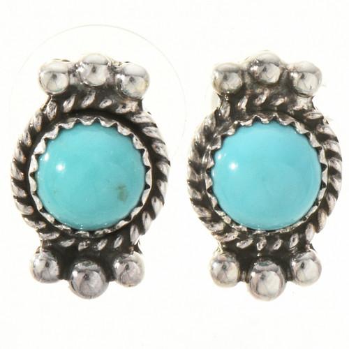 Turquoise Silver Stud Earrings 28840