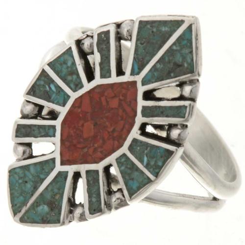Turquoise Coral Ladies Ring 27160