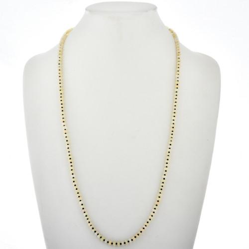 Opal Black Spinel Navajo Necklace 28821