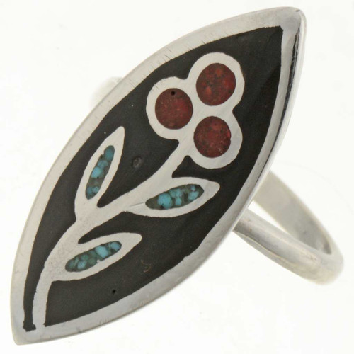 Turquoise Coral Ladies Ring 27085