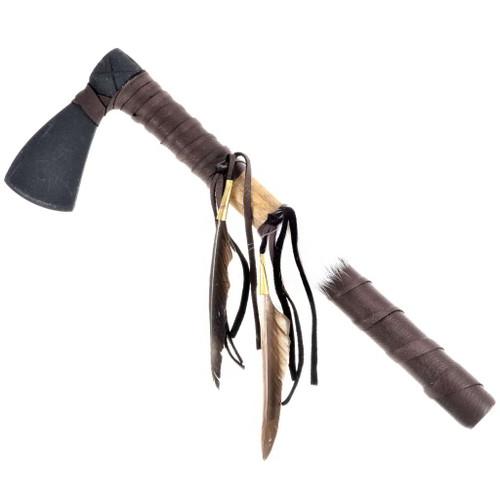 Indian Feather Tomahawk Artifact 24346