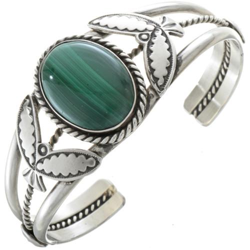 Navajo Malachite Silver Cuff 11886