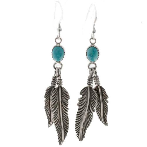 Navajo Natural Turquoise Earrings 26204