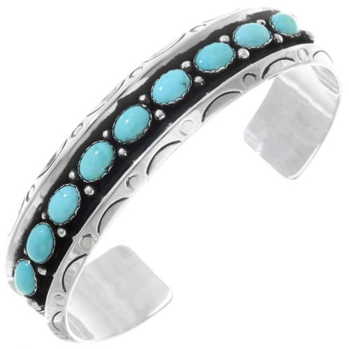 Navajo Turquoise Silver Bracelet 24040