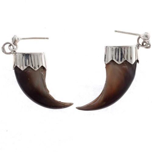 Navajo Bear Claw Earrings 23617