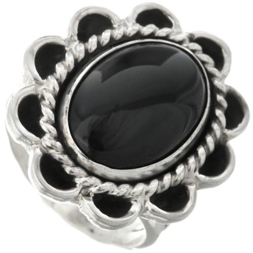 Black Onyx Ladies Ring 28614