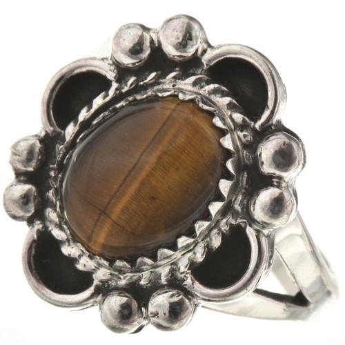 Tigers Eye Silver Ladies Ring 28600