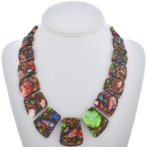 Multicolor Bronze Infused Necklace 28981