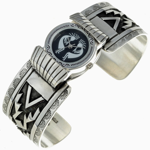 Overlaid Sterling Silver Watch 24495
