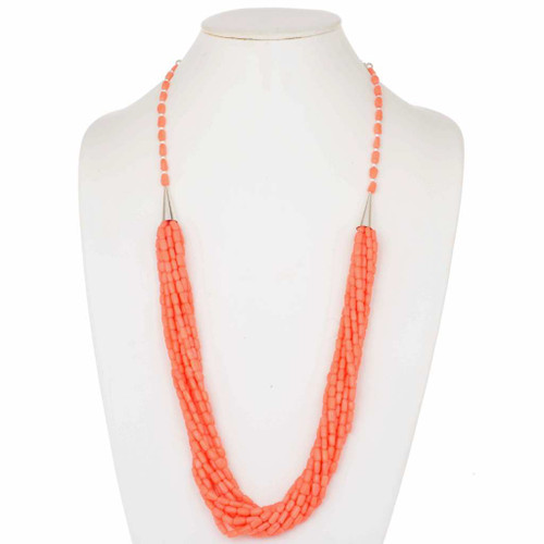 Navajo Coral Multistrand Necklace 23872