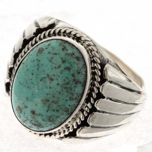 Navajo Mens Turquoise Ring 17353