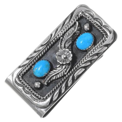 Kingman Turquoise Silver Money Clip 26853