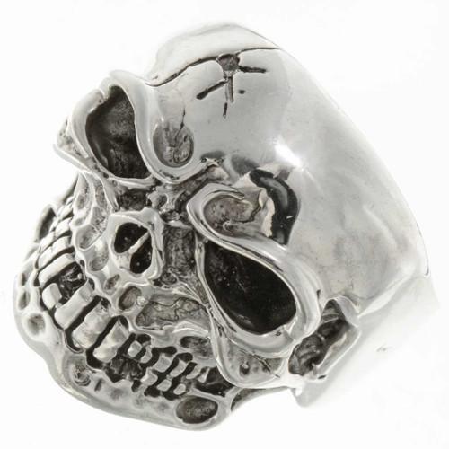 Silver Skull Biker Mens Ring 26771