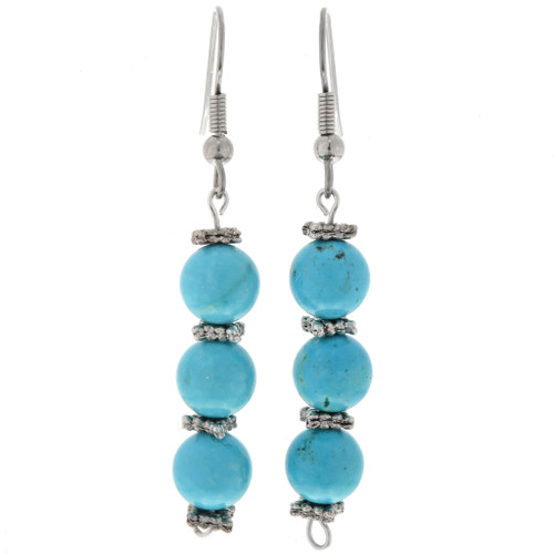 Blue Turquoise Earrings 24035