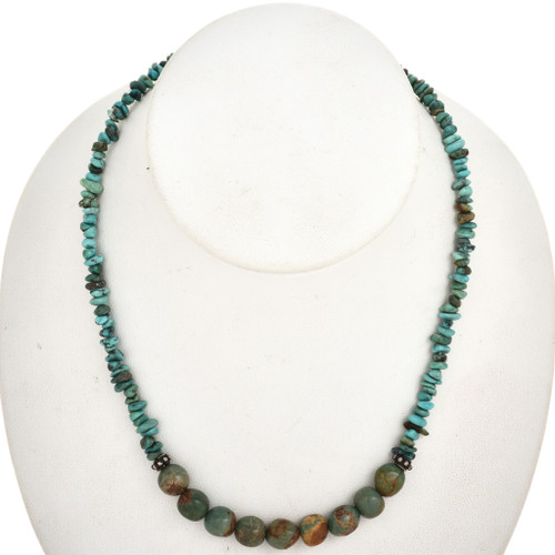 Native American Turquoise Bead Necklace 29464