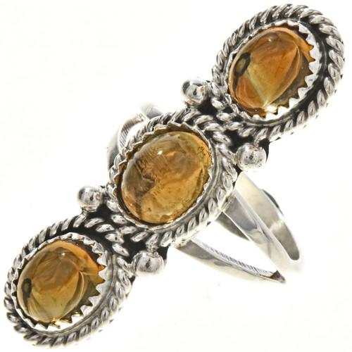 Navajo Citrine Silver Ladies Ring 29107