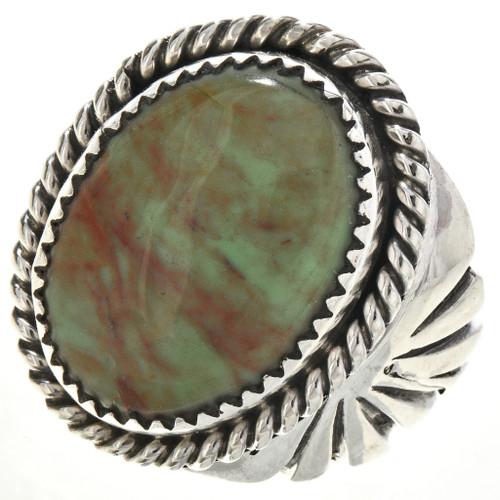 Green Alunite Silver Native American Ring 29101