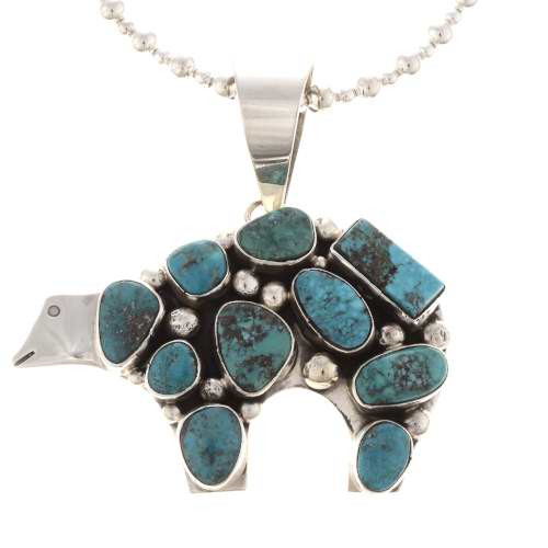 Navajo Turquoise Pendant Necklace 19489