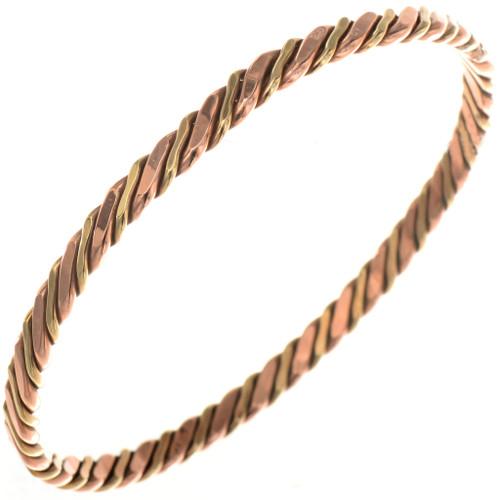 Copper Gold Navajo Bangle Bracelet 19769