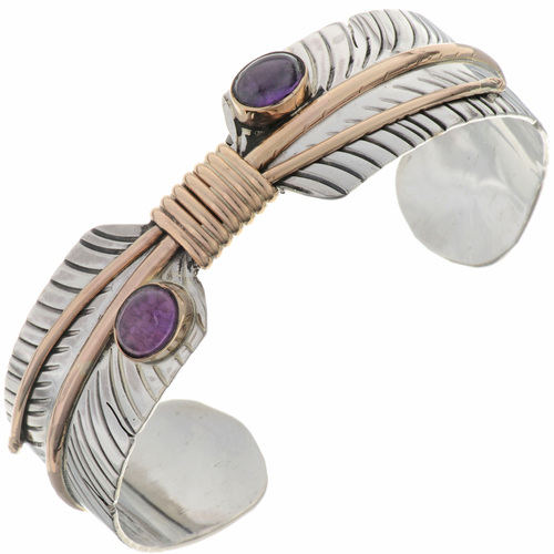 Amethyst Feather Bracelet 27478