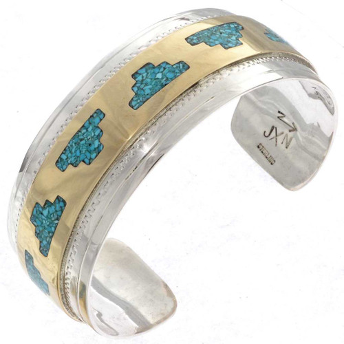 Gold Turquoise Mens Cuff 23356