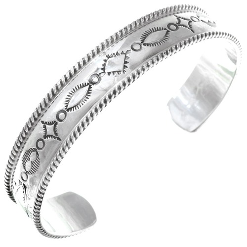 Hammered Sterling Mens Cuff  24783