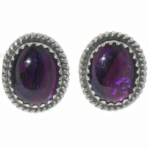 Navajo Purple Paua Shell Earrings 28449