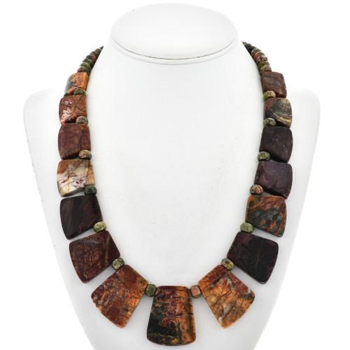 Native American Jasper Slab Necklace 29054