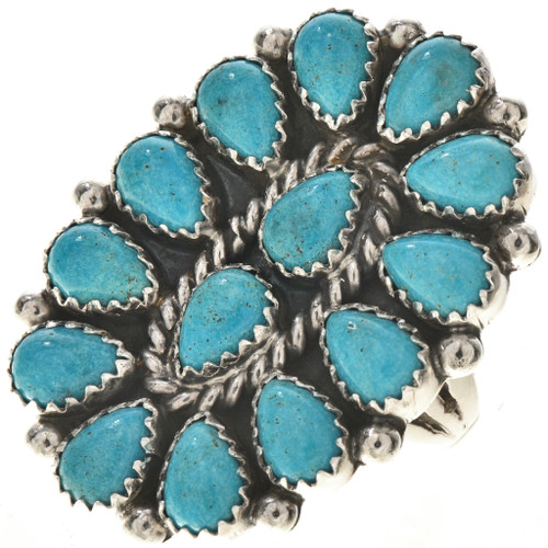 Turquoise Petit Point Ring 28692