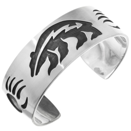 Overlaid Silver Bear Bracelet 10397