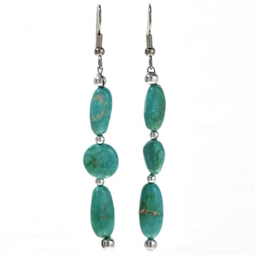 Turquoise Navajo Drop Earrings 29247