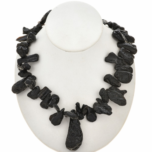 11mm by 22mm to 14mm by 60mm Meteor Tektite Beads 16 inch Long Strand