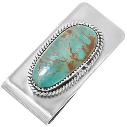 Silver Turquoise Money Clip 24013