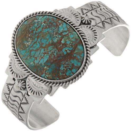 Turquoise Santa Fe Silver Cuff 27184