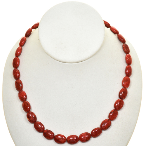 Apple Coral Beads