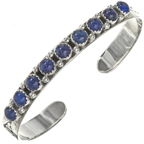 Navajo Lapis Silver Ladies Bracelet 29229