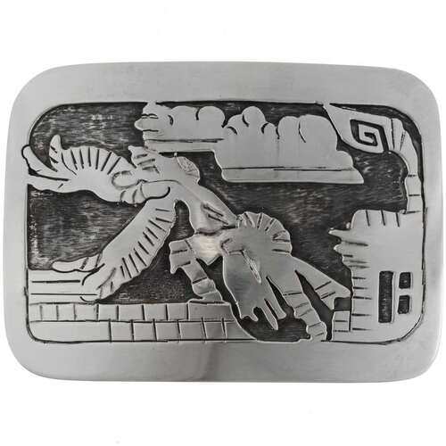 Eagle Kachina Silver Belt Buckle 19051