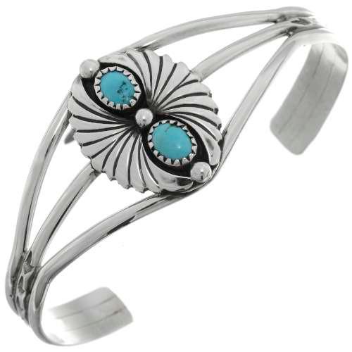 Two Stone Turquoise Bracelet 26351