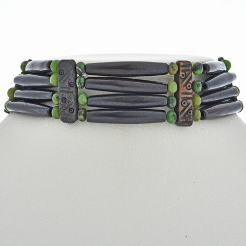 Zoisite Bone Choker Necklace 24136
