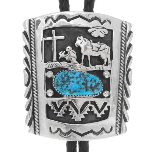 Christian Cowboy Navajo Bolo Tie 25097