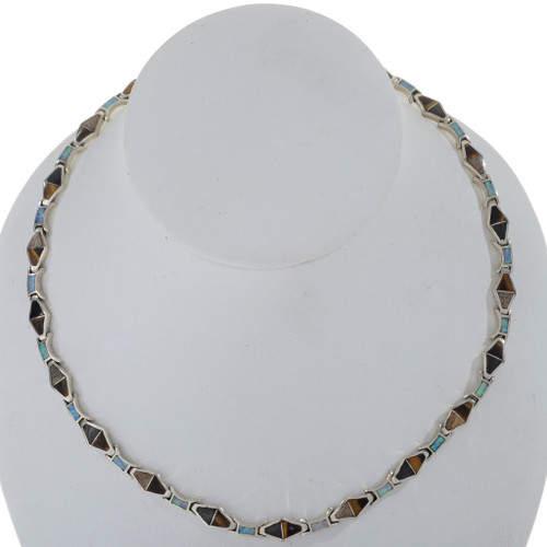 Inlaid Opal Zuni Style Necklace 27726