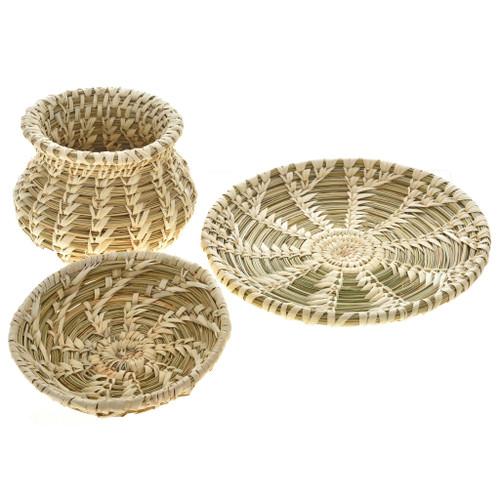 Tohono O'odham Set of Three Baskets 22444