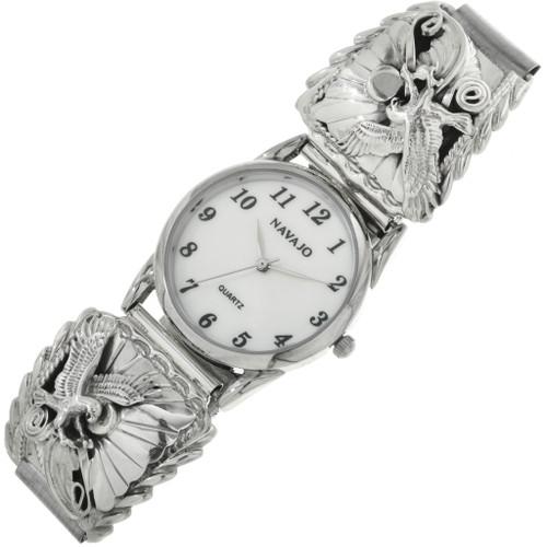 Navajo Silver Eagle Watch 23034