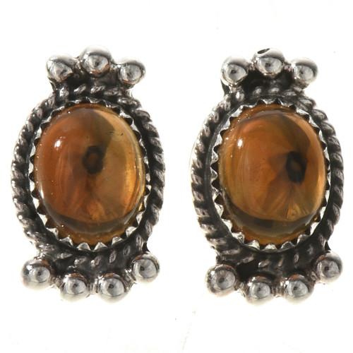 Citrine Silver Post Earrings 28861