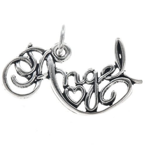 Sterling Silver Angel Charm Bracelet Charm Pendant Necklace