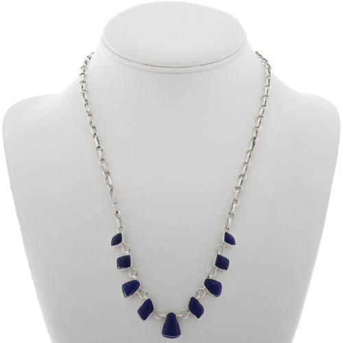 Lapis Silver Link Necklace 27700