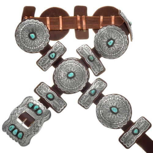 Sleeping Beauty Turquoise Concho Belt 20165