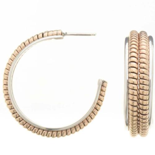Gold Silver Earrings 25908