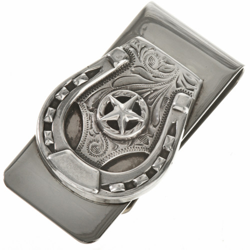 Navajo Silver Horseshoe Money Clip 28823